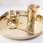 Janak Bronze (Kansa) Thali Dinner Set with One U Bowl- Manjul