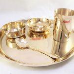 Bronze (Kansa) Plate Dinner Set | Mukta | Aamod