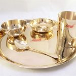 Bronze (Kansa) Plate Dinner Set | U-Amod