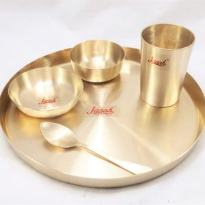 Bronze (Kansa) Dinner Set | Thali |Aamod Matt Finished