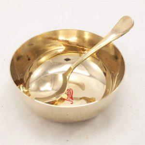 Janak Bronze (Kansa) Soup Bowl with Spoon