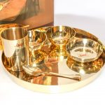 Bronze / Kansa Thali Dinner Set | Set of 3 – Avesta