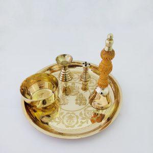 Bronze / Kansa Pooja Set | Laser Printed | Aster