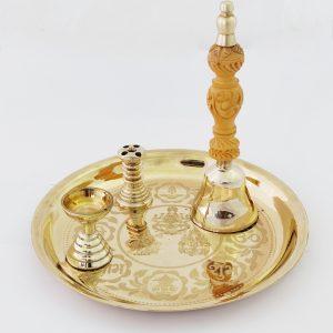 Bronze / Kansa Pooja Set | Laser Printed | Primrose